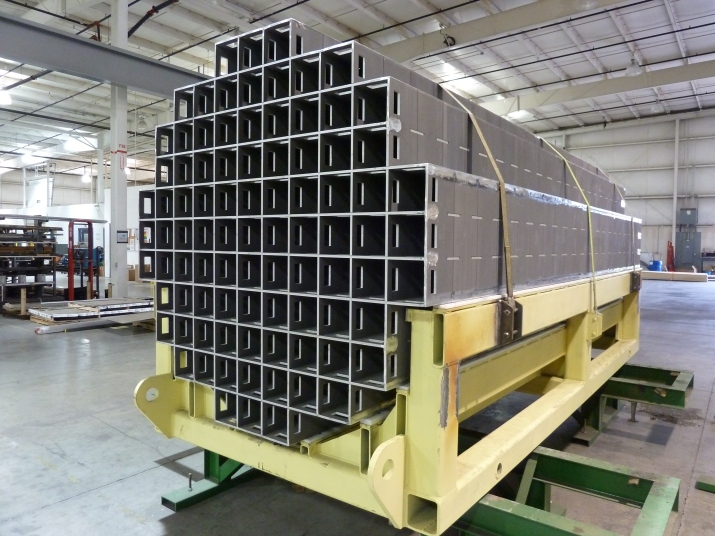 Completed MPC‐89 Metamic‐HT Spent Fuel Storage Basket Ready for Shipment to HMD