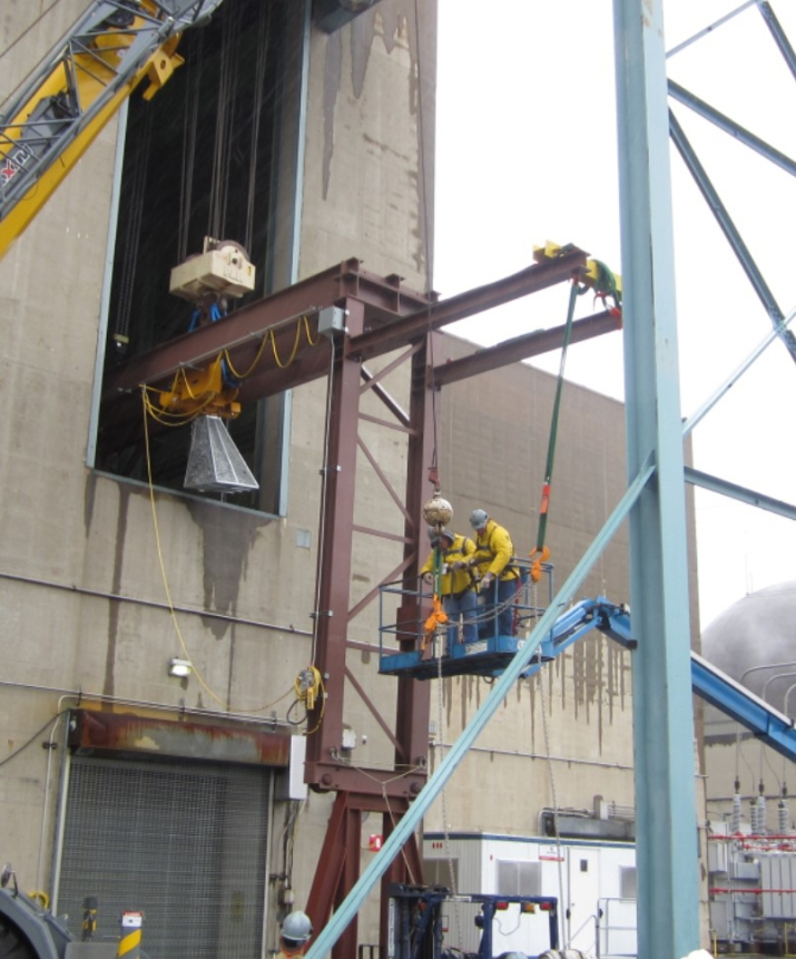Installation of the Temporary Crane