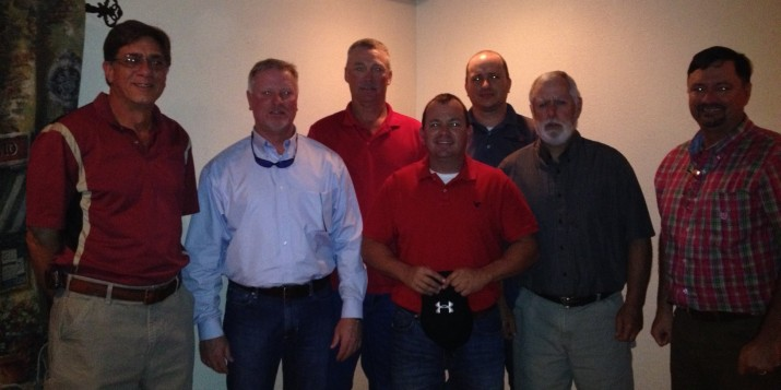 From left to right: Isaac Smith, Eddie Baker, Leon Johnson, Brian Rhodes, Kip Kelley, Ed Poole, and Holt Floyd