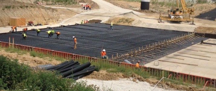 Holtec's Site Construction Team Placing Reinforcement for a UMAX ISFSI Pad