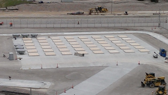 ISFSI Pad, Apron, and Heavy Haul Path completed (April 2015)