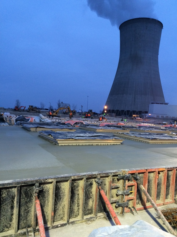 ISFSI Pad Concrete Pour Completed (January 2015)