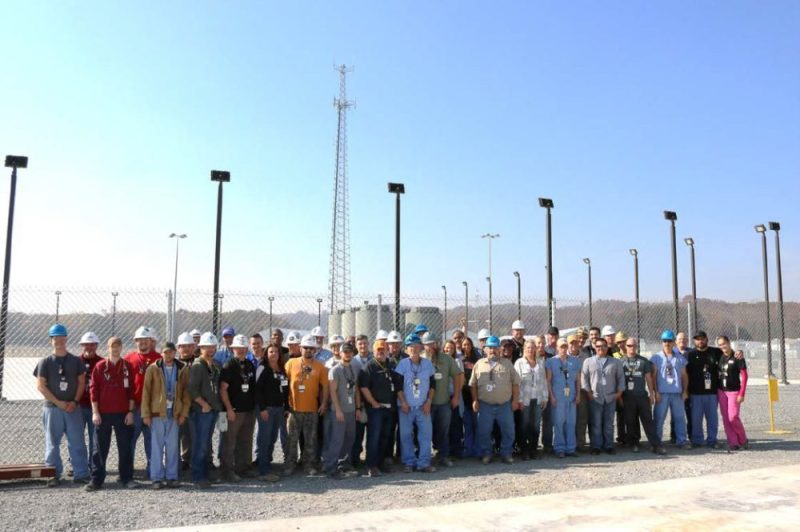 Watts Bar Team in Front of the New ISFSI Pad with Loaded HI-STORM FW Casks